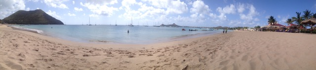 Rodney Bay Beach Panorama Shot