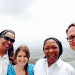 Sister Anthonia, Amanda, Sister Elizabeth, Harold