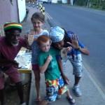 Ani & Zioni with the kids.